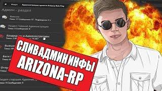 СЛИВ АДМИН РАЗДЕЛА ARIZONA-RP 2017 - СЕРВЕР ОТ ЮТУБЕРОВ SAMP
