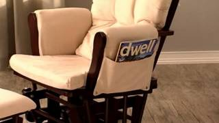Storkcraft Bowback Glider Rocker & Ottoman Set Espresso Beige - Product Review Video