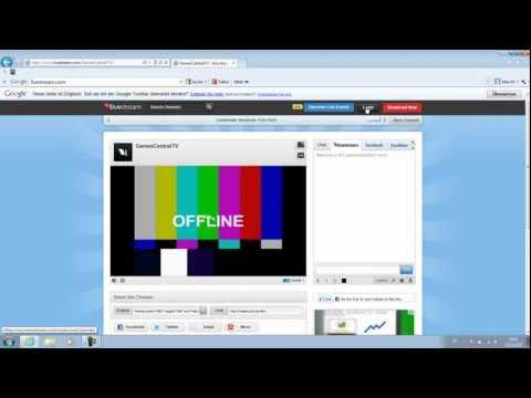 Kostenlosen Livestream Erstellen - Tutorial (German/HD)