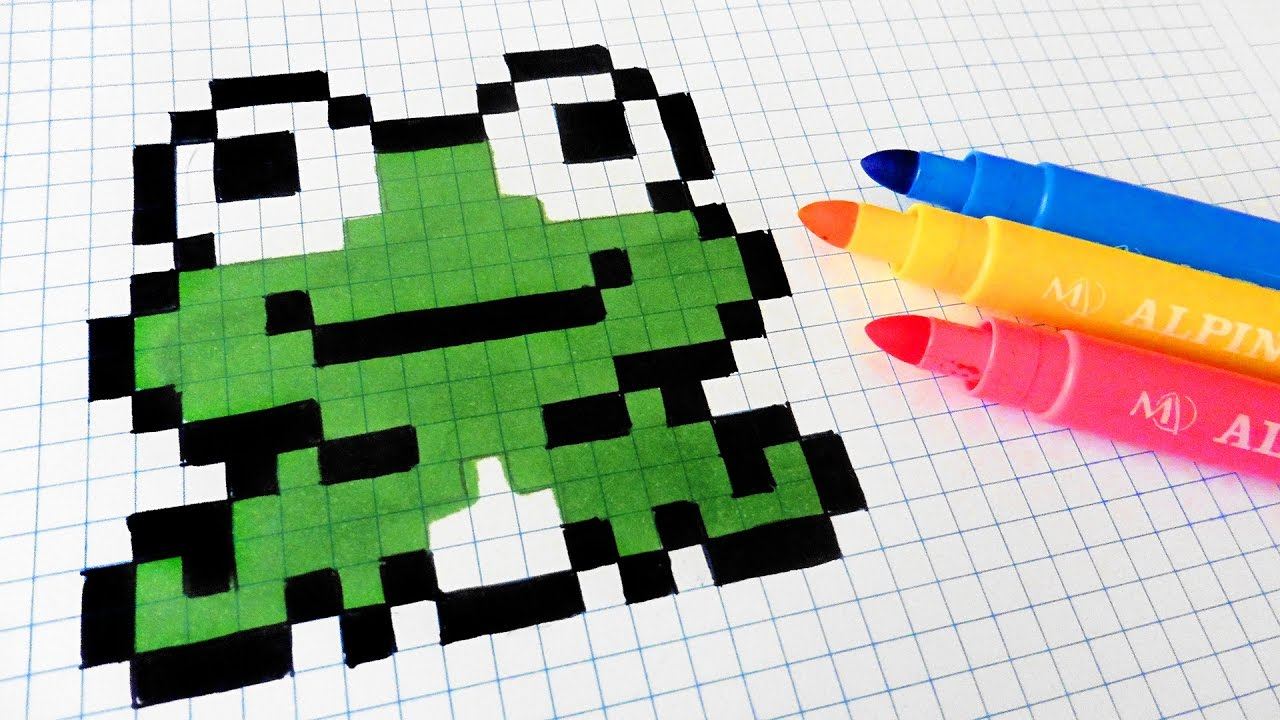 Handmade Pixel Art How To Draw Kawaii Frog Pixelart
