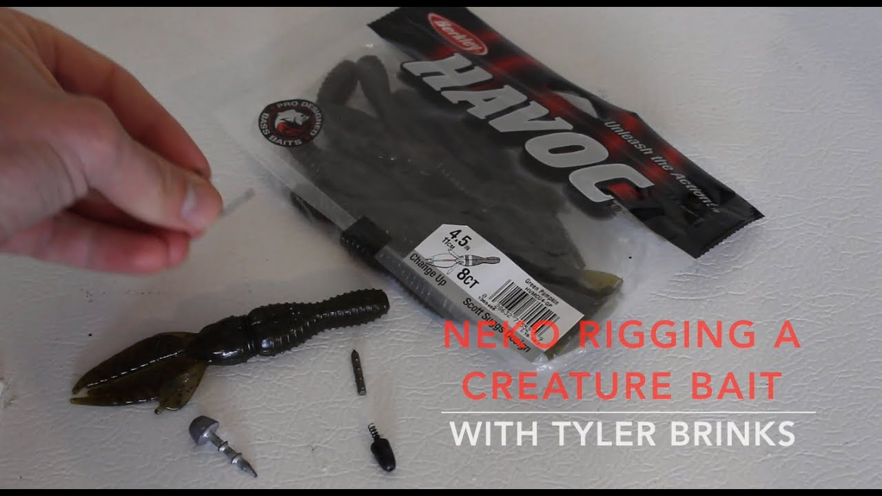 Rigging how to neko rig a creature bait doovi for Neko rig fishing