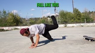 HOW TO CORRECTLY FALL IN SKATEBOARDING