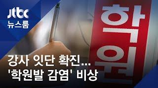 학원 80% '수업 중'…강사 잇단 확진에 '집단감염' 우려 / JTBC 뉴스룸