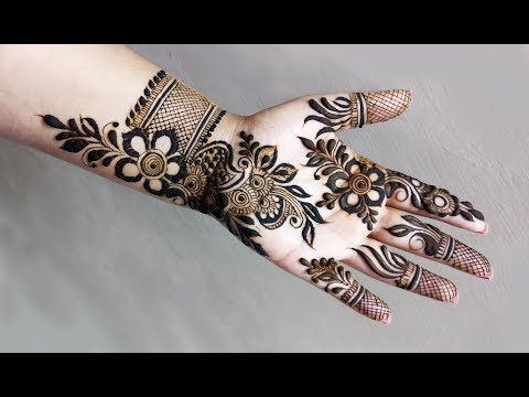 Mehndi Design for Front Hand    Navratri Special 2018