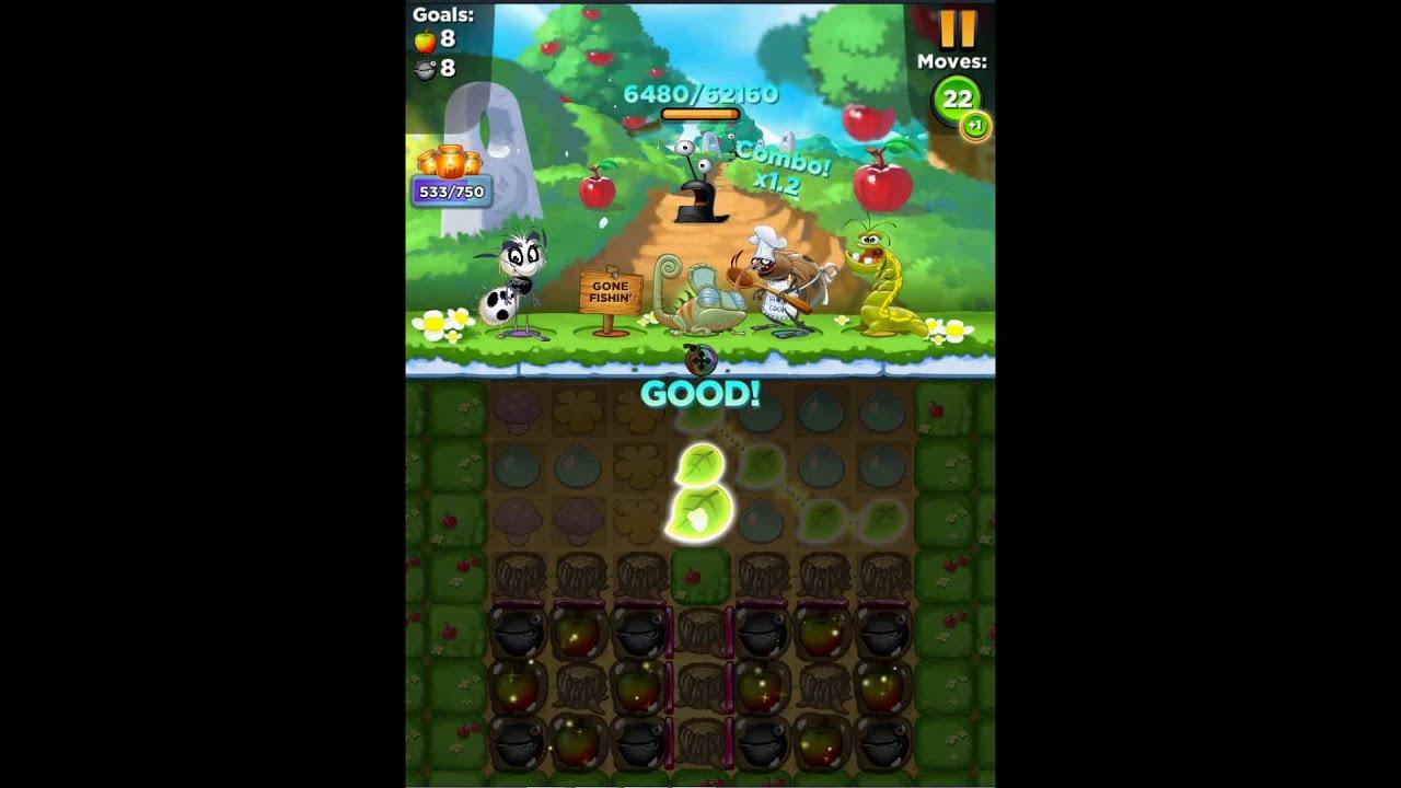 Best Fiends Hero Level 620 Orchard Valley No Bonus Youtube
