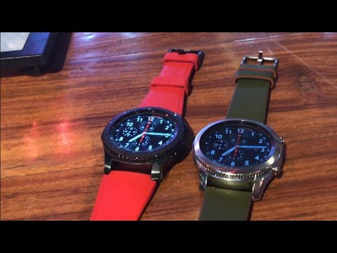 Samsung Gear S3 Classic and Frontier Smartwatch Hands on, India Price