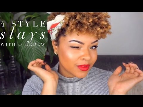 4 Styles On Short Tapered Natural Hair Ft Qredew Youtube