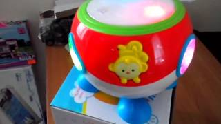 Обзор игрушка для детей - Детский Барабан Барабашка, музыкальные инструменты