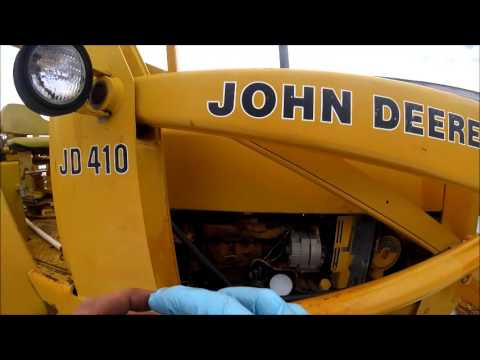 How To Replace Diesel Fuel Filter John Deere 410 Backhoe