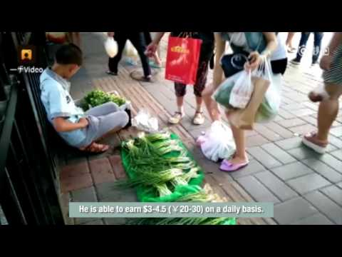 Thumbs up: 13-year-old teen earns tuition by selling vegetables on street