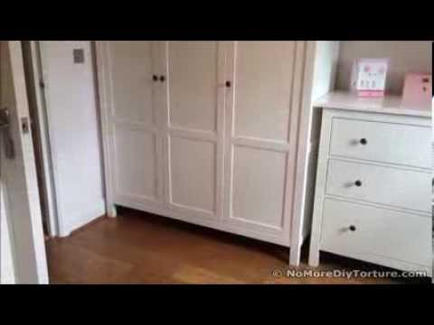 ikea hemnes wardrobe with 3 doors youtube. Black Bedroom Furniture Sets. Home Design Ideas