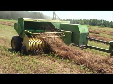 Baling hay Bertie County, North Carolina