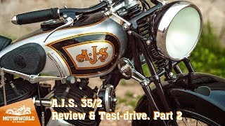 1935, A.J.S. 35/2. Review & test-drive, part 2. Motorworld by V. Sheyanov classic bike museum