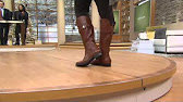 168501e8d0f Marc Fisher Leather Wide Calf Riding Boots - Taite with Leah Williams -  Duration  14 28. QVCtv 2