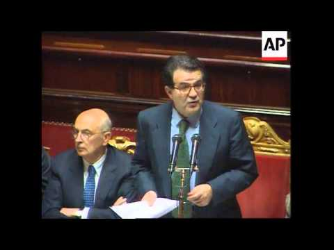 Italy - Prodi Wins Vote Of Confidence