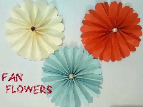 DIY Paper Fan Flower 2018/Art, craft and Health