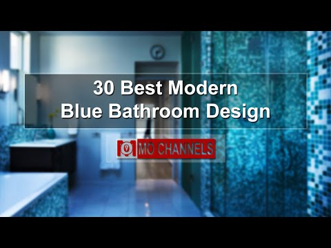 30 Best Modern Blue Bathroom Design