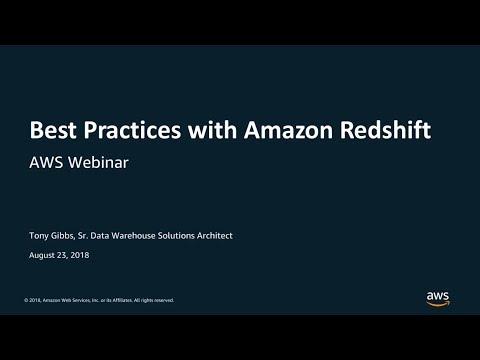 Deep Dive on Amazon Redshift - AWS Online Tech Talks