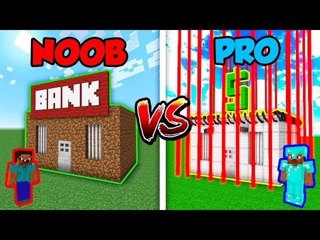 Minecraft NOOB vs. PRO: SECURE BANK in Minecraft!