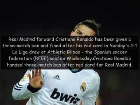 Cristiano Ronaldo Red Card - Banned Three Games