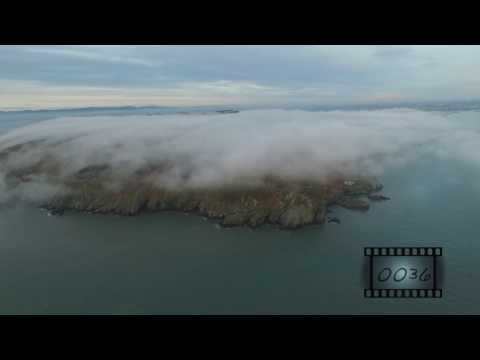 The Sea Aerial stock footage
