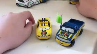 Disney Pixar cars Dexter Hoover with green flag and Charlie Checker review PART 1
