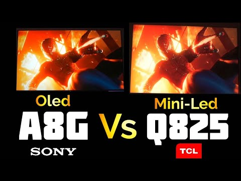 Sony Oled A8G Vs Mini-LED TCL 8-Series (Q825) | Spiderman On PS4 Pro (No Commentary) | S2•Ep•788
