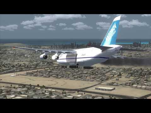 MAYDAY Emergency landing Dubai ANTONOV An-124 [Engine Fire]