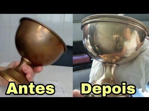 como limpar metal dourado oxidado