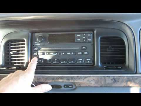 Grand Marquis Radio  Crown Victoria Radio Removal 98-02 - YouTube
