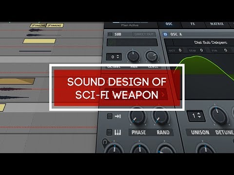 Sound design of sci-fi weapon
