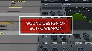 Sound design of sci-fi weapon