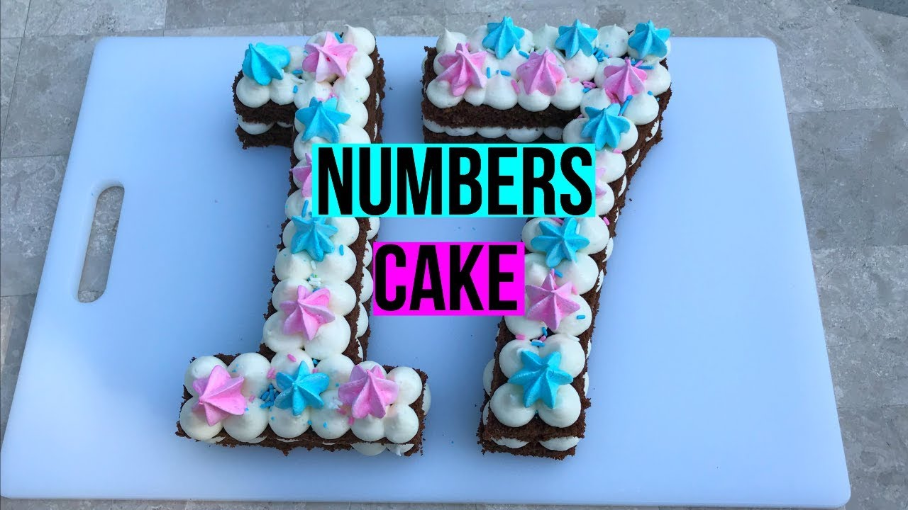 How To Make A Numbers Cake Baking With Ryan Episode 69 Youtube