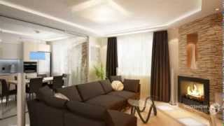 видео Дизайн интерьера гостиной с камином: с телевизором, в частном доме , в маленькой квартире,  в загородном деревянном доме. Дизайн проект небольшого зала в 20 кв м с угловым электрическим камином, фото