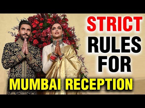 RULES For Media On Deepika Padukone Ranveer Singh Mumbai Reception