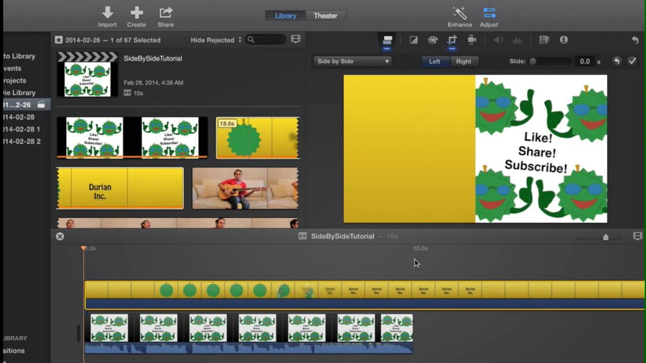 How To Put Videos Side By Side using iMovie