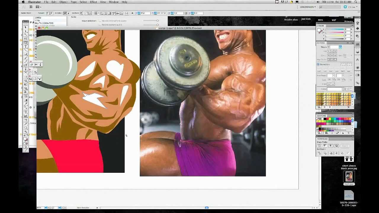 Bodybuilding Illustrative Logo Design By Logoworks