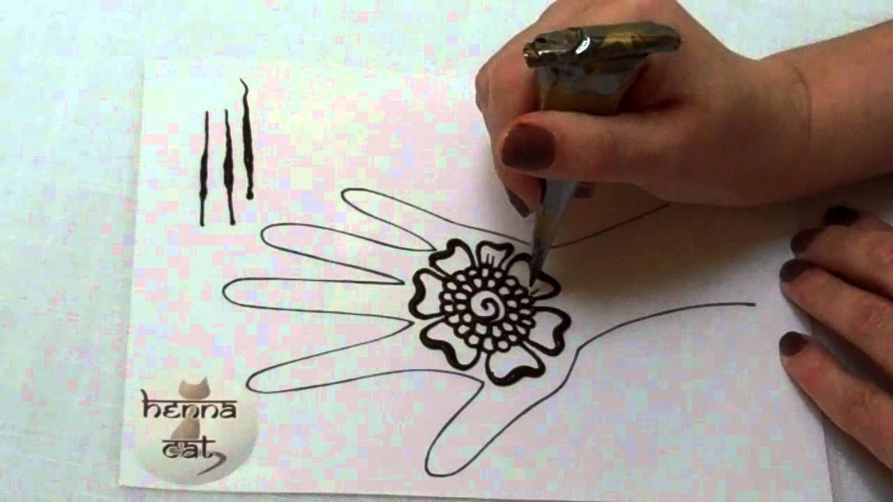 hennacatcom henna tutorials how to draw a simple flower