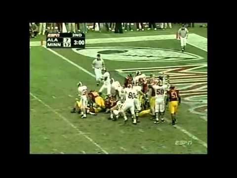 2004 Music City Bowl - Alabama vs. Minnesota Highlights