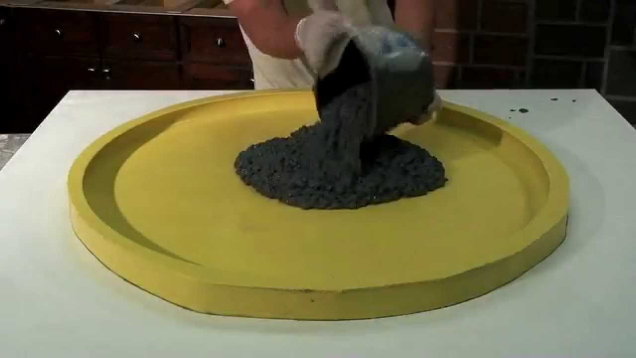 How to make a Concrete Terrazzo Table GFRC  DIY  Easy  YouTube