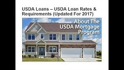 JUST UPDATED!! USDA Loan Rates and Requirements.