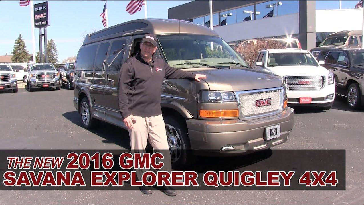 New 2016 GMC Savana Explorer Quigley 4x4 Conversion Van