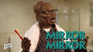 Repeat youtube video Zuma Practices State of Nation Address for his Mirror