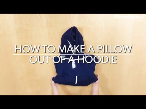 How to make a travel pillow out of a hoodie