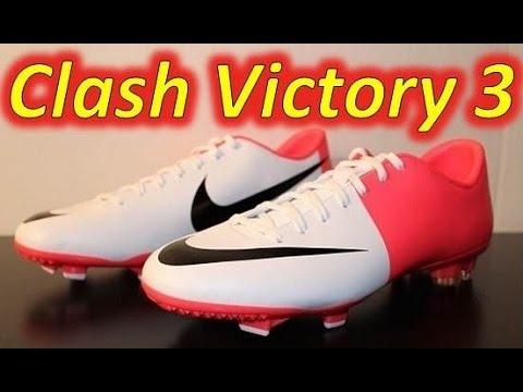 0d1421fbe Nike Mercurial Victory III White Black Solar Red (Euro 2012 Clash  Collection) - UNBOXING