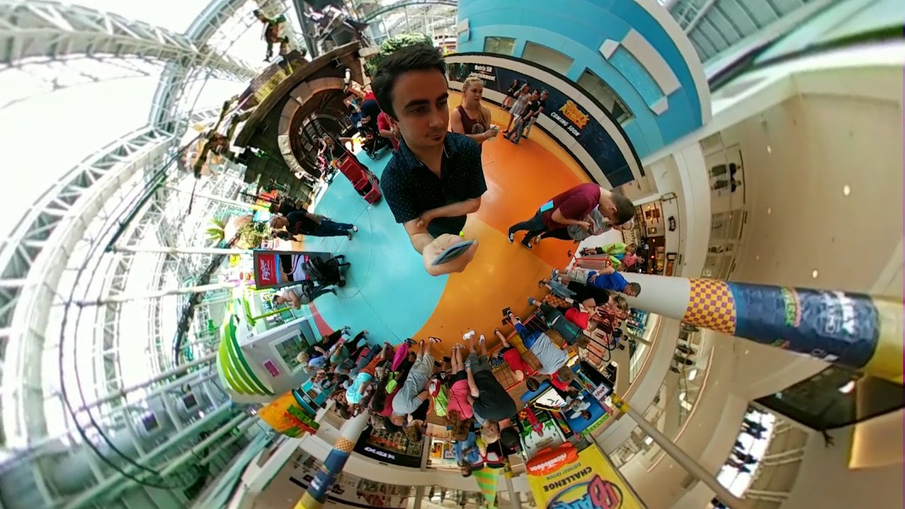 Double Dare At Nickelodeon Universe 10th Birthday Celebration Tiny Planet Video Mall Of America Youtube