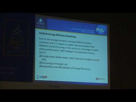 Arab Water Week Session (35) Part 1 Energy Efficiency Tools for Water Utilities