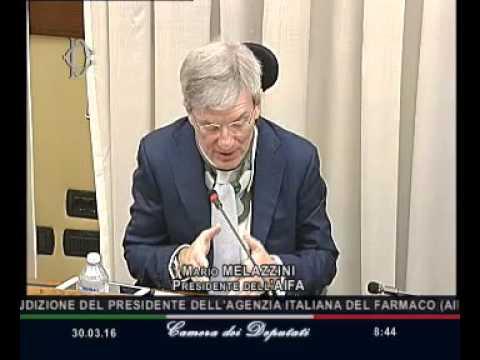 Roma - Audizione Melazzini, Presidente Agenzia italiana farmaco (30.03.16)