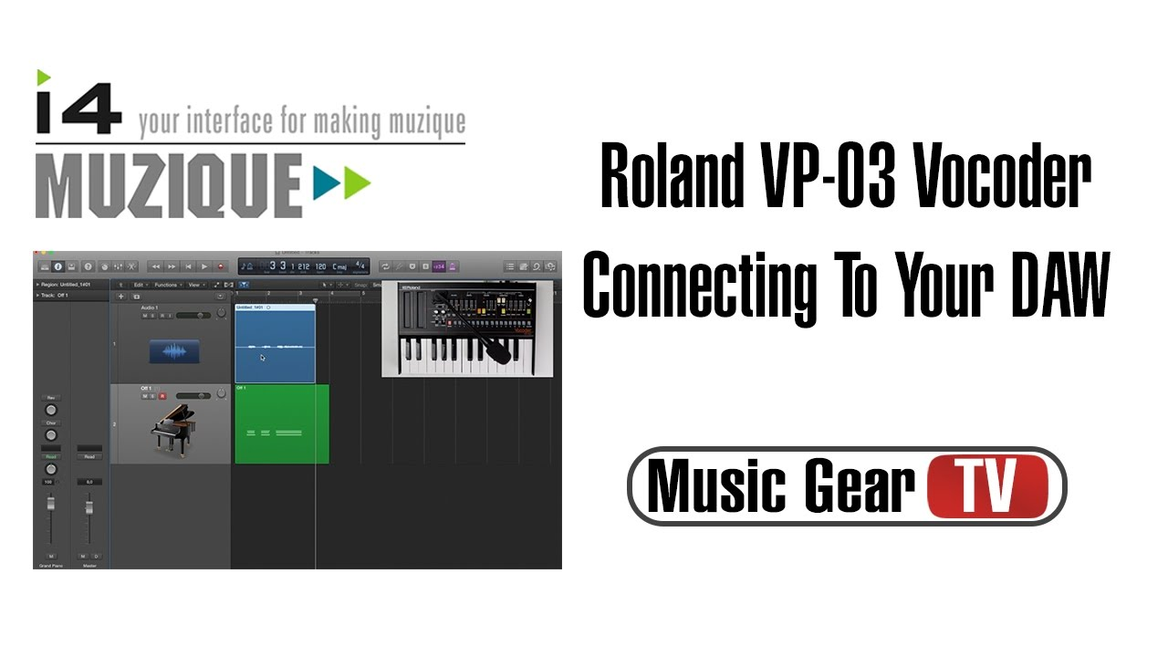 roland vp 03 vocoder connecting to daw youtube. Black Bedroom Furniture Sets. Home Design Ideas