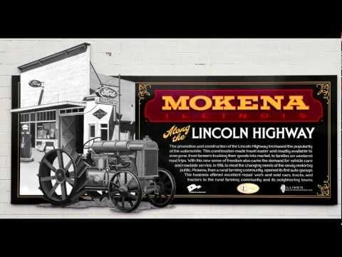 Illinois Lincoln Highway Mural Installed in the Village of Mokena